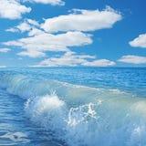 Καραϊβική θάλασσα και τέλειος ουρανός Στοκ εικόνα με δικαίωμα ελεύθερης χρήσης