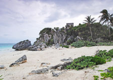 Καραϊβική θάλασσα, η παραλία, Μεξικό στοκ εικόνες