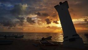 Καραϊβικός φάρος Puerto Morelos των Μάγια Riviera απόθεμα βίντεο