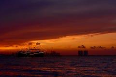 καραϊβικό ηλιοβασίλεμα &the στοκ φωτογραφίες