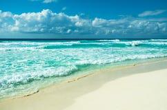 Καραϊβικό πανόραμα παραλιών, Tulum, Μεξικό στοκ εικόνα με δικαίωμα ελεύθερης χρήσης