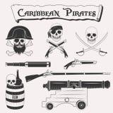Καραϊβικό σύνολο πειρατών Στοκ Εικόνες