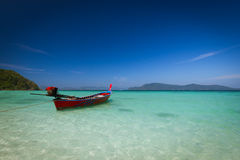 καραϊβικό tulum yucatan θάλασσας roo quintana του Μεξικού βαρκών παραλιών Στοκ Φωτογραφίες