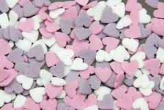 Καρδιάς ζάχαρης στοκ εικόνες με δικαίωμα ελεύθερης χρήσης