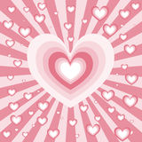 καρδιά έκρηξης Στοκ εικόνα με δικαίωμα ελεύθερης χρήσης