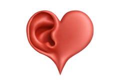 καρδιά ακρόασης Στοκ εικόνα με δικαίωμα ελεύθερης χρήσης
