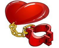 καρδιά αλυσίδων Στοκ φωτογραφία με δικαίωμα ελεύθερης χρήσης