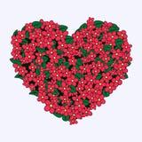Καρδιά ανθοδεσμών Στοκ Εικόνες