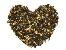Καρδιά από το πράσινο τσάι Στοκ Φωτογραφία