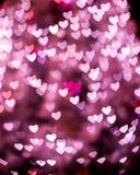 Καρδιά βαλεντίνων bokeh Στοκ Εικόνες