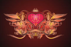 καρδιά βασιλική Στοκ φωτογραφίες με δικαίωμα ελεύθερης χρήσης