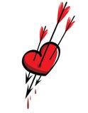 καρδιά βελών διανυσματική απεικόνιση