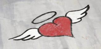 καρδιά γκράφιτι Στοκ εικόνα με δικαίωμα ελεύθερης χρήσης