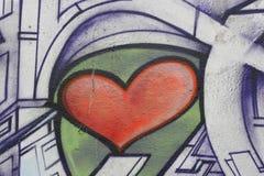 καρδιά γκράφιτι Στοκ Εικόνα