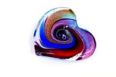 καρδιά γυαλιού χρώματος πολυ Στοκ Εικόνες