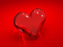 καρδιά γυαλιού διανυσματική απεικόνιση