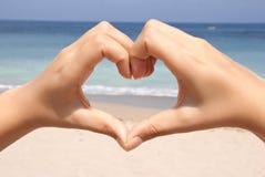 καρδιά δάχτυλων Στοκ εικόνες με δικαίωμα ελεύθερης χρήσης
