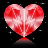 Καρδιά διαμαντιών βαλεντίνων Στοκ εικόνες με δικαίωμα ελεύθερης χρήσης