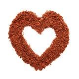 καρδιά-διαμορφωμένος από το hocolate Στοκ εικόνα με δικαίωμα ελεύθερης χρήσης