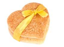 καρδιά δύο μπισκότων στοκ φωτογραφία με δικαίωμα ελεύθερης χρήσης