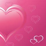 καρδιά δύο Στοκ εικόνα με δικαίωμα ελεύθερης χρήσης