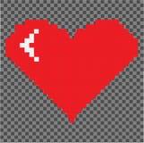 Καρδιά εικονοκυττάρου που απομονώνεται στο εικονοκύτταρο packground απεικόνιση αποθεμάτων