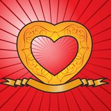 καρδιά εμβλημάτων επετεί&omic Στοκ φωτογραφία με δικαίωμα ελεύθερης χρήσης