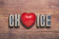 Καρδιά επιλογής ξύλινη Στοκ φωτογραφίες με δικαίωμα ελεύθερης χρήσης