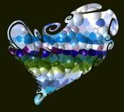 Καρδιά Ζωηρόχρωμη καρδιά φυσαλίδων Στοκ φωτογραφίες με δικαίωμα ελεύθερης χρήσης