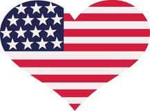 Καρδιά Ηνωμένων σημαιών απεικόνιση αποθεμάτων