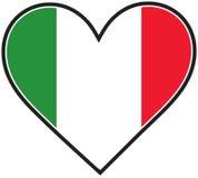 καρδιά Ιταλία σημαιών Στοκ Εικόνες
