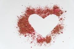 Καρδιά Κάρτες ημέρας βαλεντίνων ` s μορφή καρδιών χρώματος άμμου στοκ φωτογραφίες με δικαίωμα ελεύθερης χρήσης