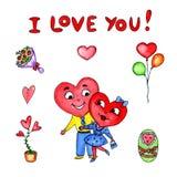 Καρδιά και αγάπη διανυσματική απεικόνιση
