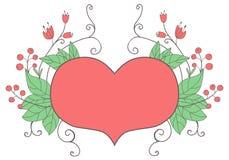 Καρδιά και λουλούδια Στοκ φωτογραφία με δικαίωμα ελεύθερης χρήσης