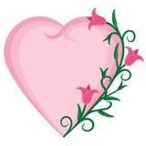 Καρδιά και λουλούδια Στοκ Φωτογραφία