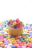 καρδιά καραμελών cupcake Στοκ φωτογραφία με δικαίωμα ελεύθερης χρήσης