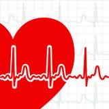 καρδιά καρδιογραφημάτων απεικόνιση αποθεμάτων