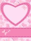 καρδιά καρτών πεταλούδων Στοκ φωτογραφία με δικαίωμα ελεύθερης χρήσης