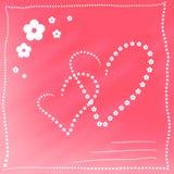 καρδιά καρτών Στοκ φωτογραφία με δικαίωμα ελεύθερης χρήσης
