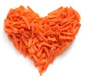 καρδιά καρότων Στοκ φωτογραφία με δικαίωμα ελεύθερης χρήσης