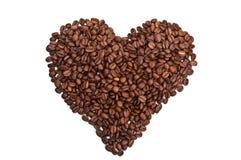 καρδιά καφέ που ψήνεται Στοκ φωτογραφία με δικαίωμα ελεύθερης χρήσης
