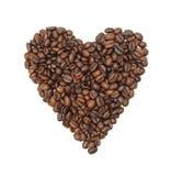 καρδιά καφέ φασολιών που &alp Στοκ φωτογραφία με δικαίωμα ελεύθερης χρήσης