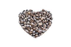 καρδιά καφέ φασολιών Στοκ φωτογραφίες με δικαίωμα ελεύθερης χρήσης