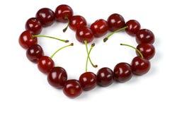 καρδιά κερασιών Στοκ φωτογραφία με δικαίωμα ελεύθερης χρήσης