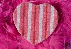 καρδιά κιβωτίων που διαμορφώνεται Στοκ Εικόνα