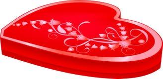 καρδιά κιβωτίων που διαμ&omic Στοκ Εικόνες