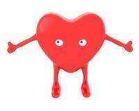 καρδιά κινούμενων σχεδίων Στοκ εικόνα με δικαίωμα ελεύθερης χρήσης