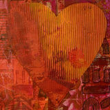 καρδιά κολάζ Στοκ φωτογραφίες με δικαίωμα ελεύθερης χρήσης
