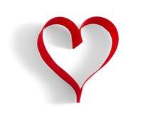 Καρδιά κορδελλών Στοκ Φωτογραφία