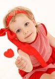 καρδιά κοριτσιών λίγα γλ&upsil Στοκ φωτογραφίες με δικαίωμα ελεύθερης χρήσης